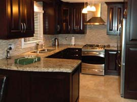 Amber Yellow Granite Countertop with Double Ogee Edge Profile