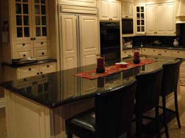 Black Galaxy Granite Countertop with Water Fall Edge Profile