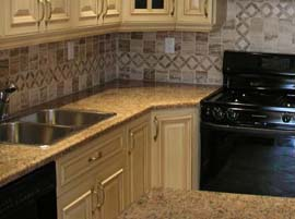 Kashmir Gold Granite Countertop with one step Ogee Edge Profile