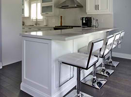 Quartz Countertop Eating Area
