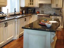 Black Cosmic Granite Countertop with Double Ogee Edge Profile