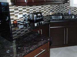 Metallica Granite Countertop with Radius Ogee Edge Profile