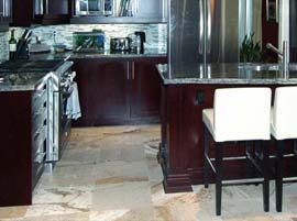 Namibiom Green Granite Countertop Ogee Edge Profile