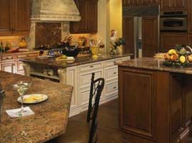 Red Montana Granite Countertop with Ogee Edge Profile