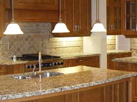 Star Beach Granite Countertop with Ogee Edge Profile